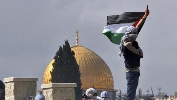 ثائرين فلسطينيين في القدس