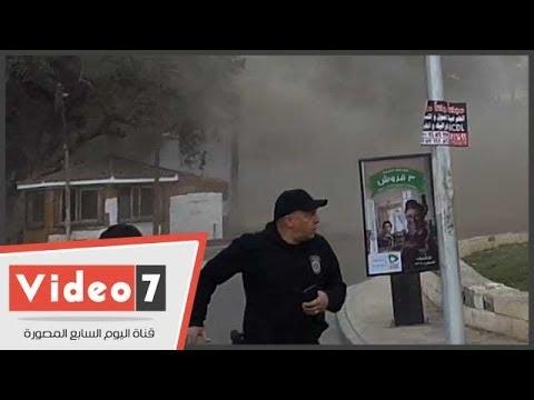 بالفيديو.. لحظة انفجار قنبلتين أمام كلية الهندسة بجامعة القاهرة