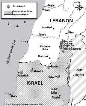 خريطة لبنان وفلسطين المحتلة