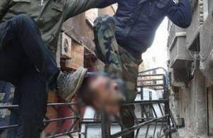 التكفيريون يقطعون رأس الشهيد البطل محمد سامر خليفة