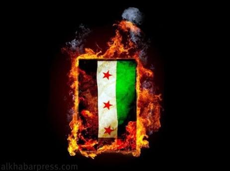 علم الاحتلال الفرنسي ثوار الناتو في سوريا