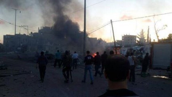 انفجار شمال غزة