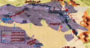 خارطة ميدانية لمعارك الموصل 28-11-2016