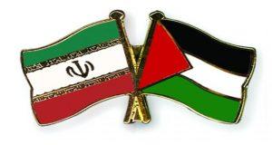 علم فلسطين وعلم إيران