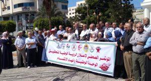الجبهة الشعبية القيادة العامة تشارك الفصائل بالمؤتمر الصحفي لإعلان رؤية الفصائل لإنهاء الإنقسام بين حركتي حماس وفتح (7)